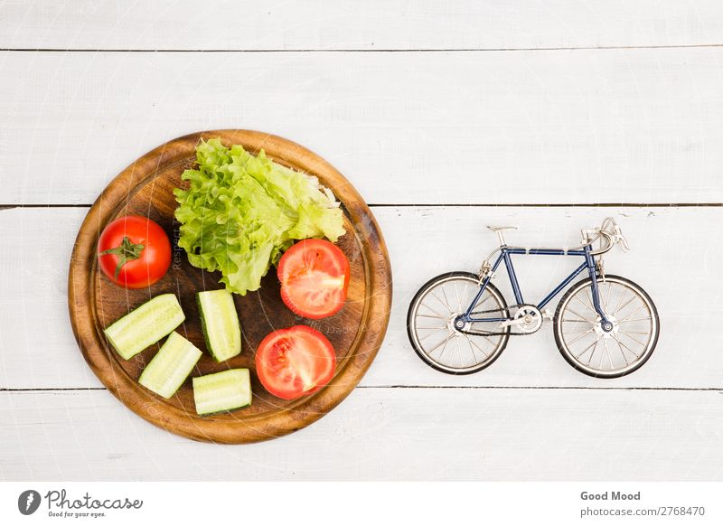 bicycle model and fresh vegetables Vacation & Travel White Relaxation Eating Lifestyle Wood Sports Style Tourism Trip Leisure and hobbies Nutrition Body