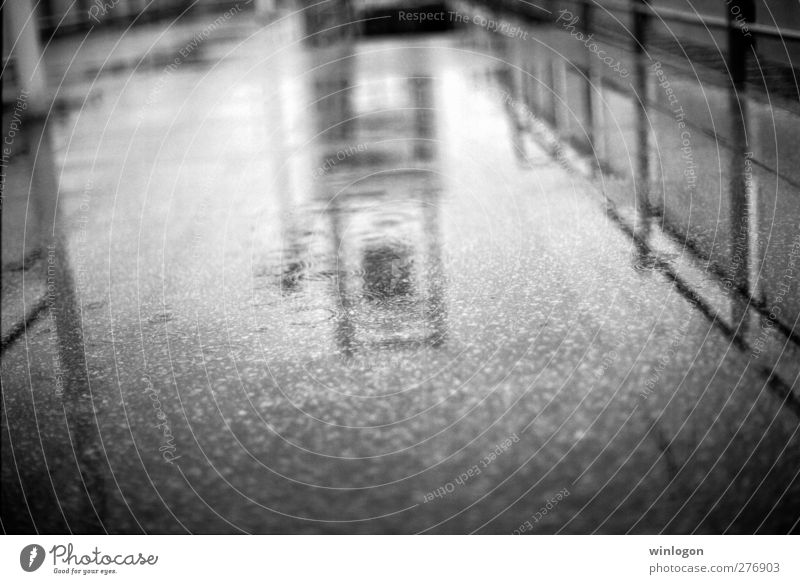 In the rain Water Drops of water Climate Bad weather Storm Gale Rain Thunder and lightning Bochum hustadt Germany Europe Town Port City Train station