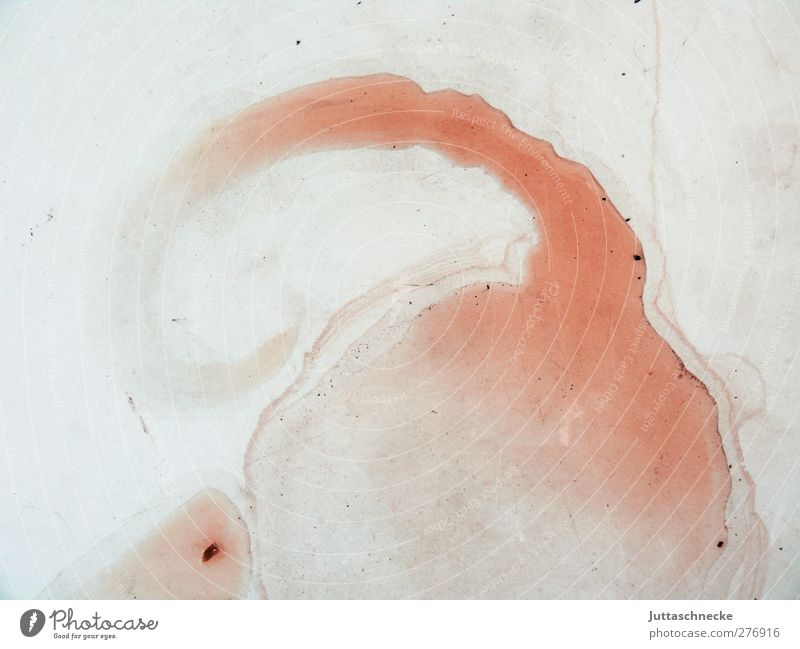 Moritz Art Painter Work of art Water Dirty Disgust Fluid Red Chaos Puddle Tracks Abstract Colour photo Exterior shot Close-up Deserted