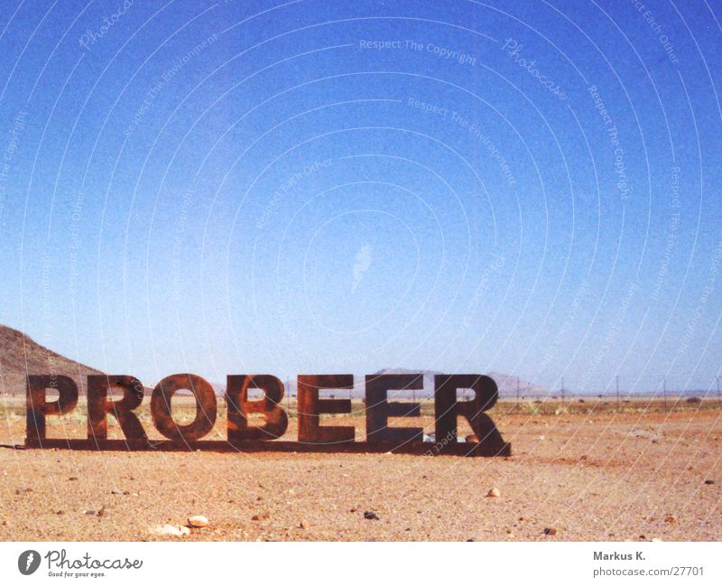 Signs and labeling Desert Beer Things Typography Against Alcoholic drinks Namibia