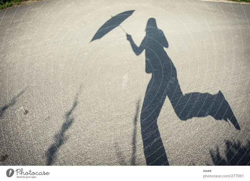 Human being Environment Street Movement Lanes & trails Gray Funny Weather Walking Beautiful weather Umbrella Traffic infrastructure Sunshade Humor Pedestrian