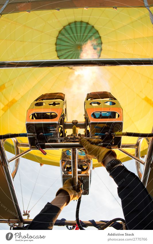 Apparatus in hot air balloon aerostat machine Transport infusion Engines Flame Industrial Aircraft Equipment Balloon Machinery Metal Technology Design