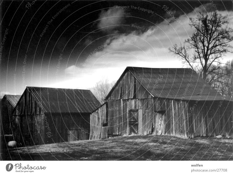 Clouds Architecture Americas Barn Ambience Wooden hut
