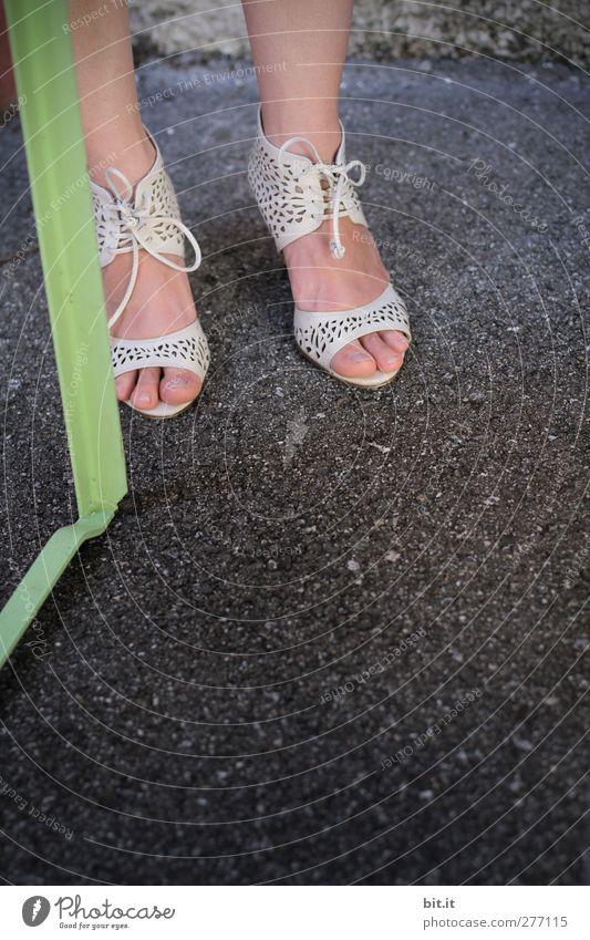 leg to leg Feminine Woman Adults Youth (Young adults) Legs Feet 1 Human being Stand Elegant Beautiful Joy Joie de vivre (Vitality) Unwavering Society Footwear