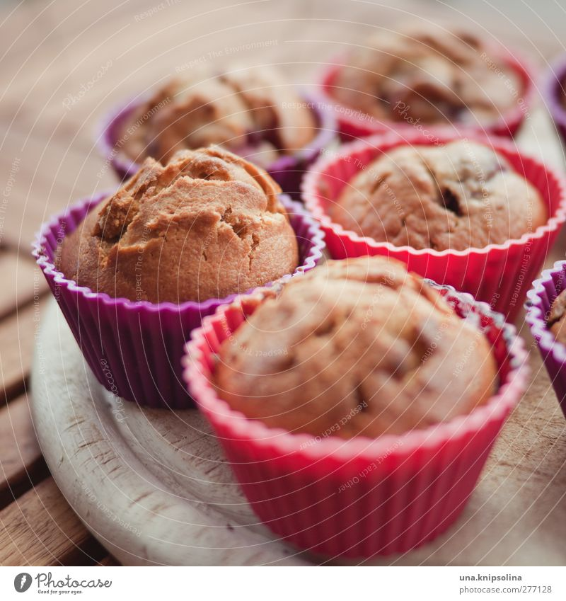 ...allow to cool briefly... Food Dough Baked goods Cake Dessert Candy Muffin Nutrition To have a coffee Crockery Fresh Healthy Delicious Brown Violet Pink