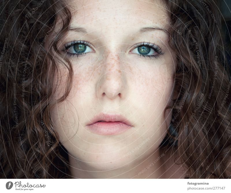 Human being Youth (Young adults) Beautiful Calm Adults Eyes Feminine Young woman Hair and hairstyles Think Mouth Authentic Beauty Photography Curl Brunette Facial expression