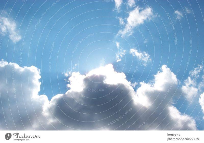 Sky Sun Blue Clouds Moody Hide