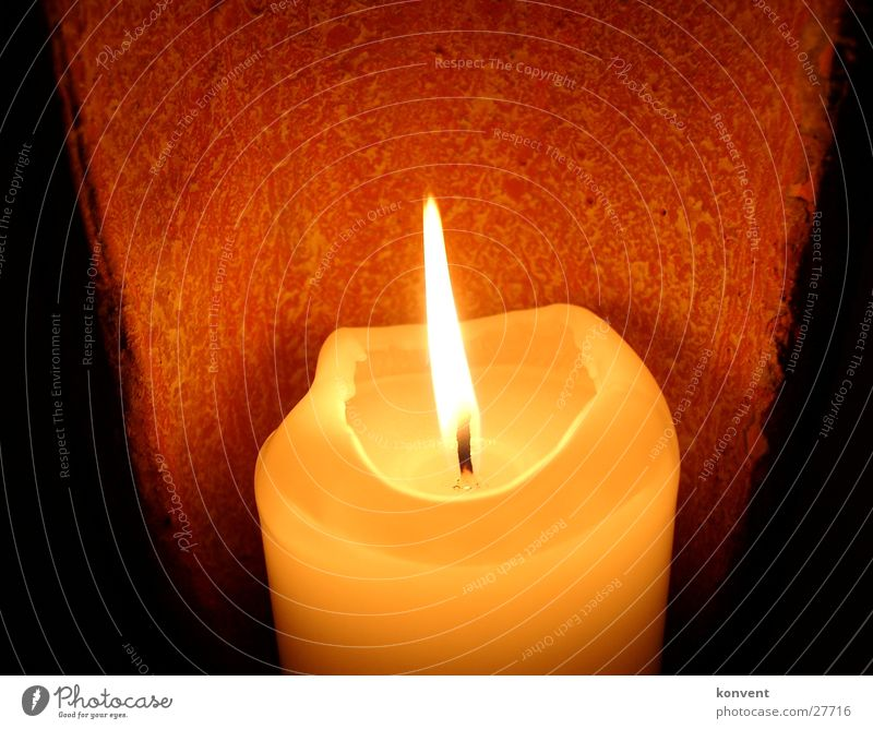 Romantic candle Candle Light Hot Physics Red Romance Lamp Cozy Calm Living or residing Warmth Orange Flame Shadow