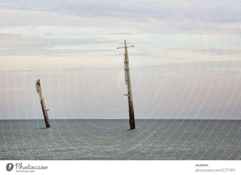 Sky Blue Water Clouds Landscape Horizon Weather Dive Baltic Sea Navigation Steamer