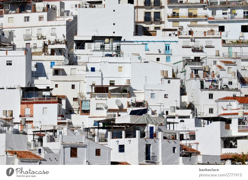 Vacation & Travel Town White House (Residential Structure) Life Environment Style Facade Living or residing Bright Culture Many Spain Small Town Fishing village