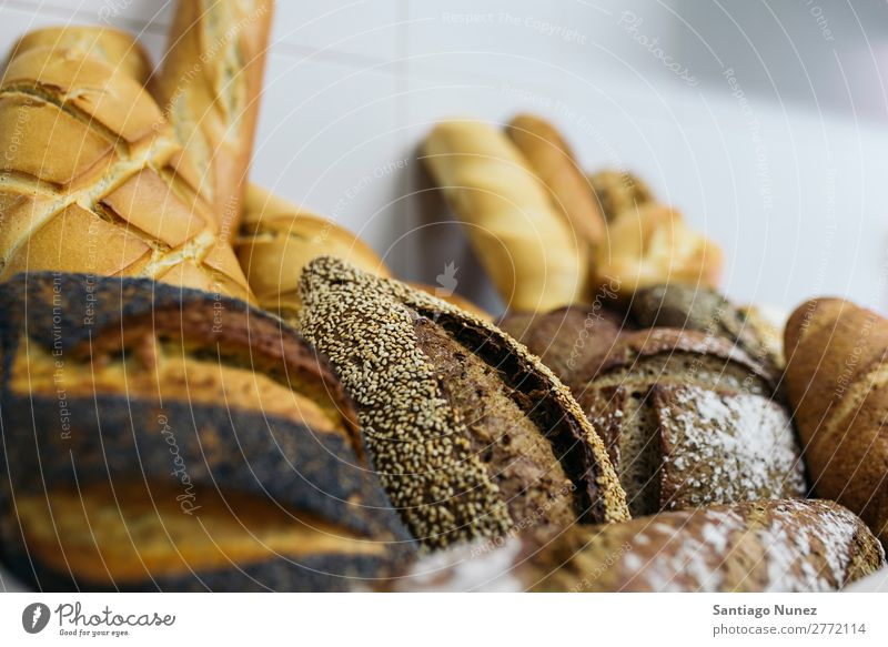 Many mixed breads and rolls. Bread Fresh Food White Bakery Background picture Breakfast Meal Grain Flour loaf Seed whole Wheat Baking Dough Baguette Healthy