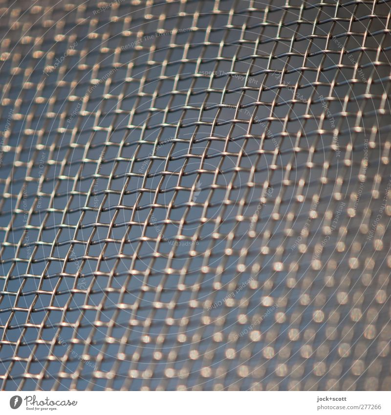 Light Grid Sieve Decoration Metal Line Stripe Network Glittering Thin Firm Near Blue Safety Protection Esthetic Arrangement Perspective Moody Symmetry Change