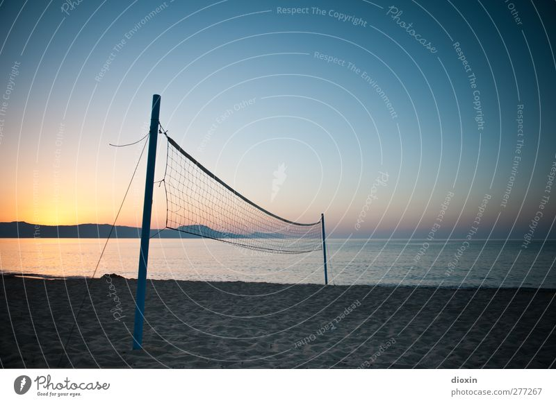 sand sport Leisure and hobbies Playing Beach ball Volleyball Volleyball court Volleyball net Vacation & Travel Tourism Trip Summer Summer vacation Sun Ocean