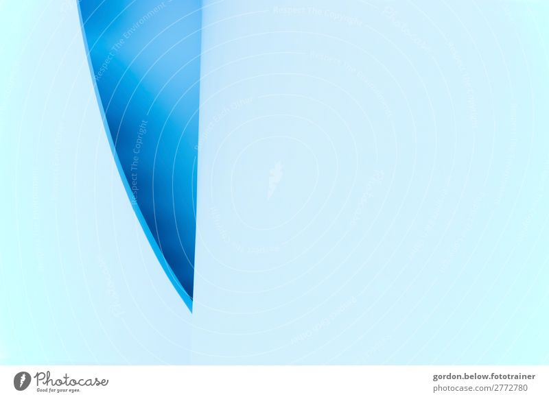abstract High-tech Deserted Glass blue blade Observe Cold Sustainability Blue Turquoise White Cool (slang) Purity Respect Colour photo Studio shot Experimental