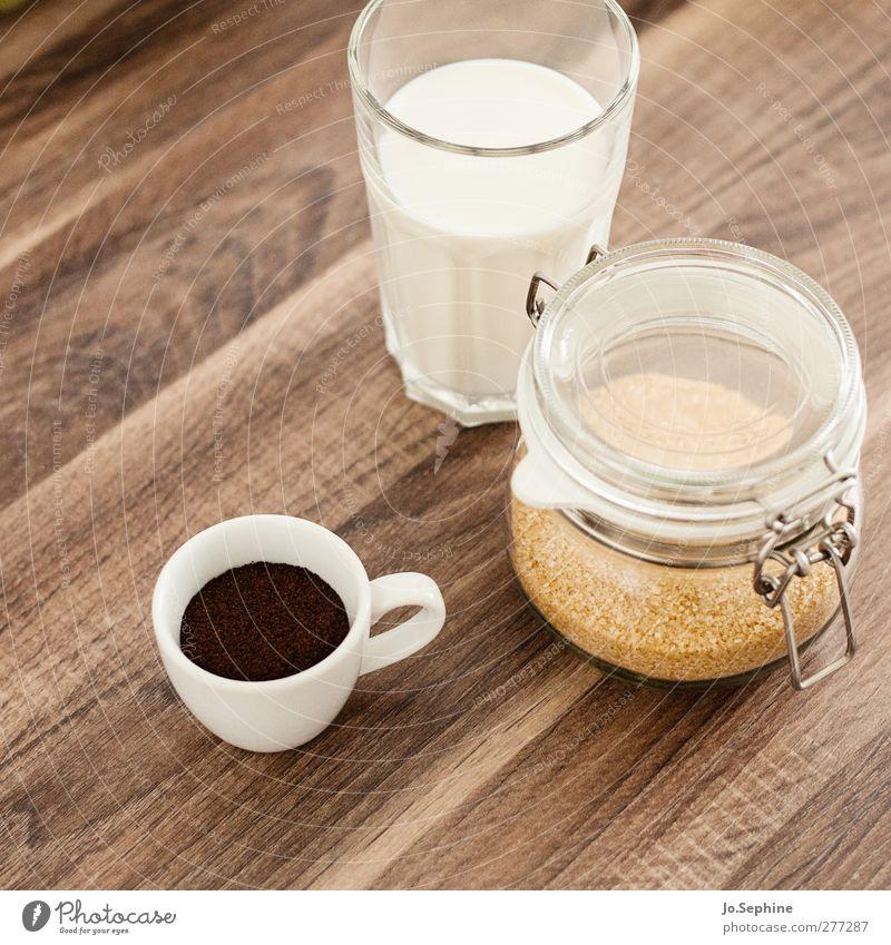 delicious breakfast Food Brown sugar Breakfast To have a coffee Beverage Hot drink Milk Coffee Latte macchiato Espresso Lifestyle To enjoy Coffee break