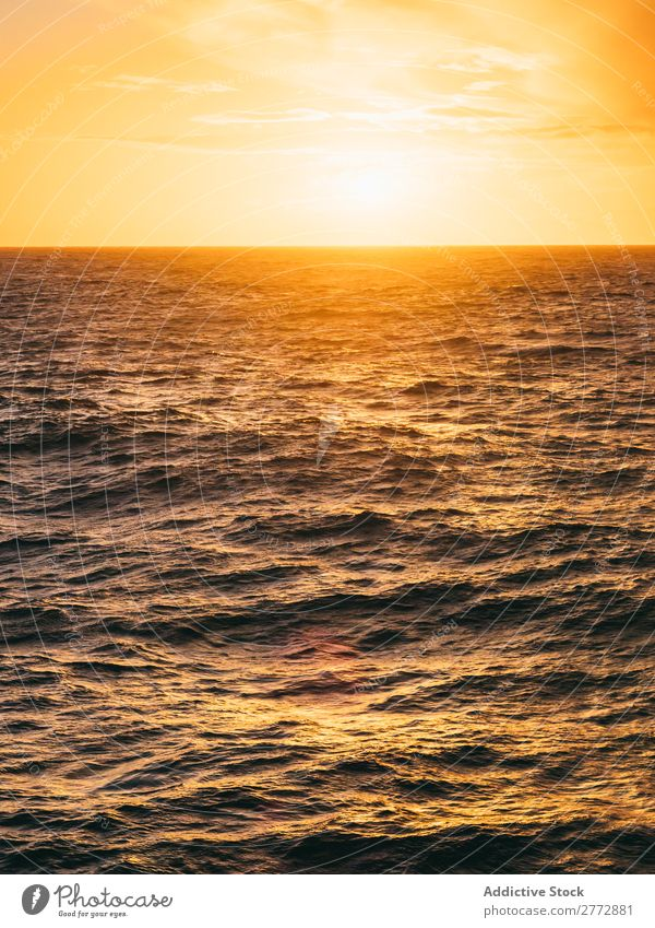 Bright sunlight above rough sea Ocean Rough Sunrise Sunlight Panorama (Format) Water Background picture Landscape