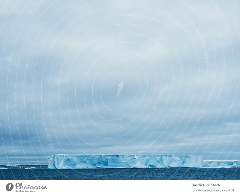 Glacier in sea Wall (building) Ice Penguin Ocean Iceberg Landscape Dramatic Environment huge Beauty Photography Water polar North The Arctic Vacation & Travel