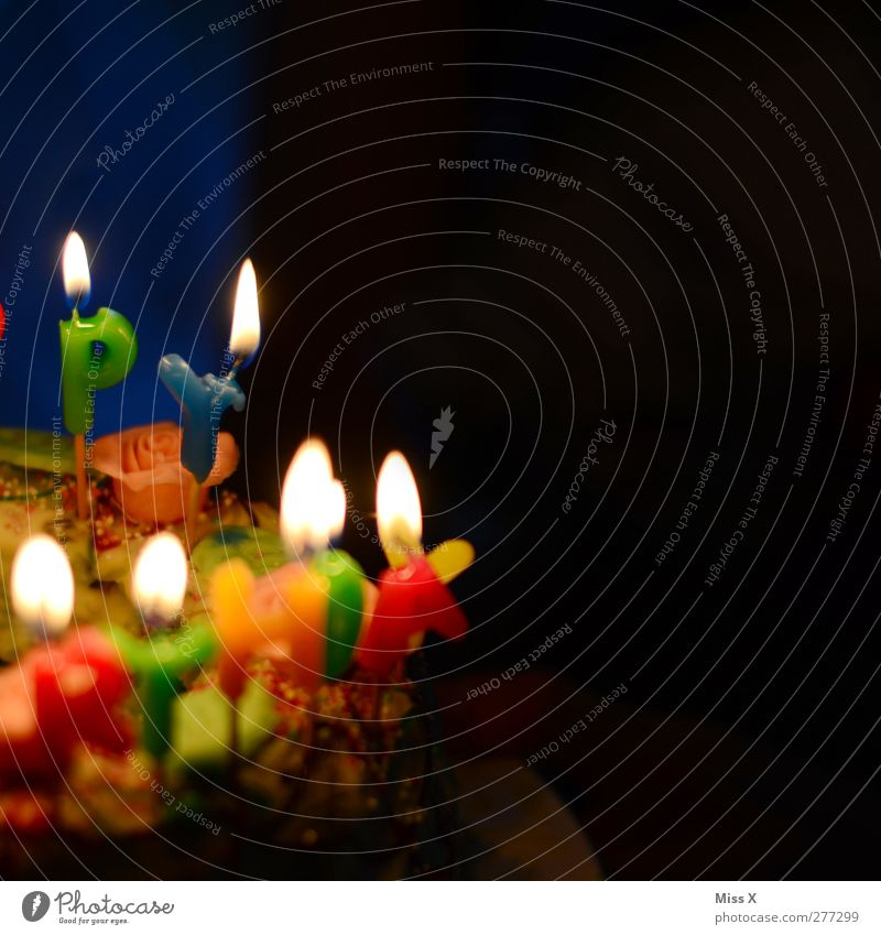 Bright Feasts & Celebrations Birthday Food Nutrition Illuminate Sweet Candle Delicious Cake Gateau Birthday cake Candlelight To have a coffee Happy Birthday