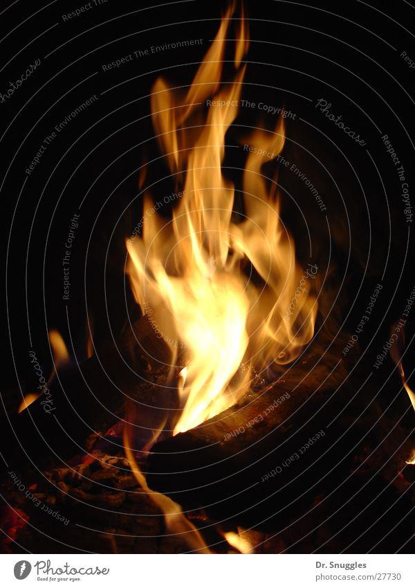 Dark Wood Bright Blaze Hot Burn Flame Fireplace Fiery