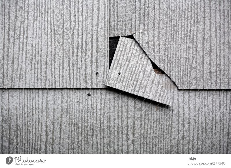 midlife crisis Redecorate Construction site Wall (barrier) Wall (building) Facade Crack & Rip & Tear Line Corner Broken Gray Threat Crisis Risk