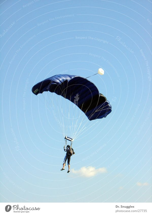 airman Skydiver Paragliding Air Rhineland-Palatinate Extreme sports Blue Human being Flying Pirmasens