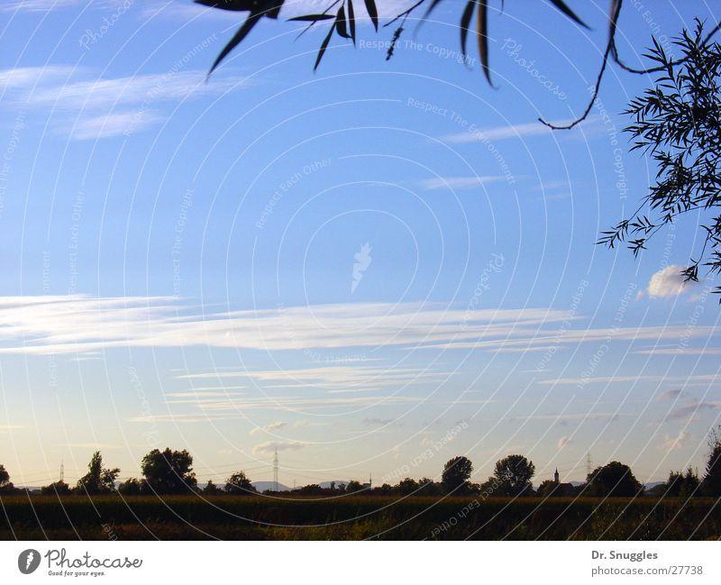 blue width Village Far-off places Empty Clouds Rhine plain Rhineland-Palatinate Sky Blue Landscape Free Maximilian sow