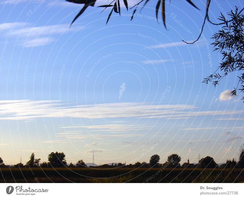 Sky Blue Clouds Far-off places Landscape Free Empty Village Rhineland-Palatinate Rhine plain