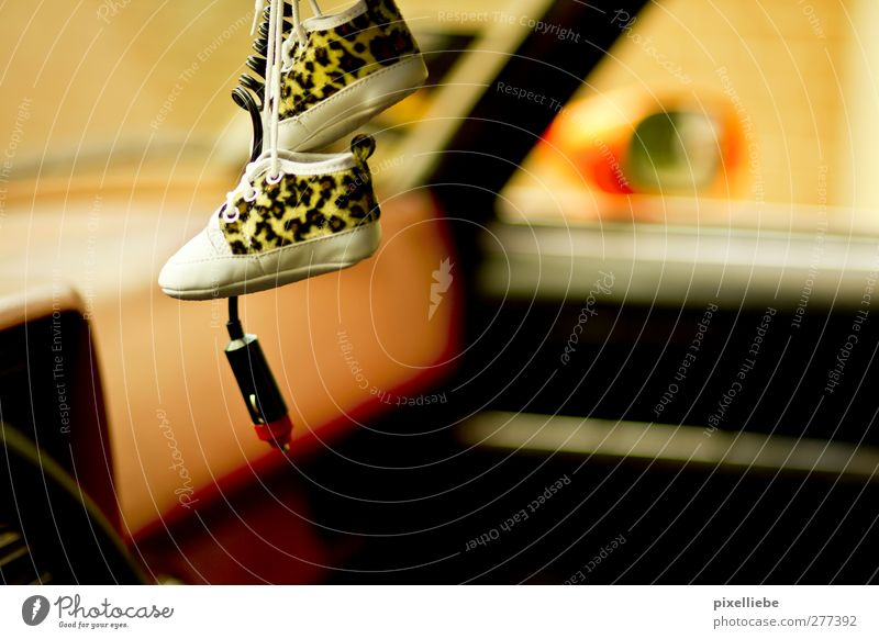 rock 'n' roll Cable Motoring Vehicle Car Footwear Hang Kitsch Retro Past Leopard print cigarette lighter Colour photo Detail Shallow depth of field