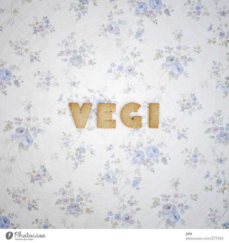 Are you already or are you still eating meat? Food Dough Baked goods Candy Cookie Nutrition Vegetarian diet Characters Word Delicious vegi Colour photo