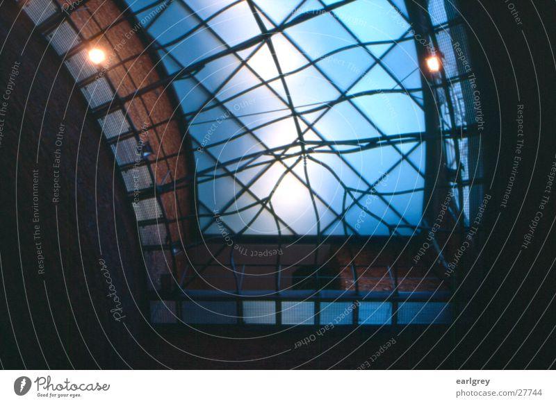 glass roof Glass roof Dresden Back-light Lemon squeezer Library Architecture art academy Steel carrier Blue Floodlight Interior shot