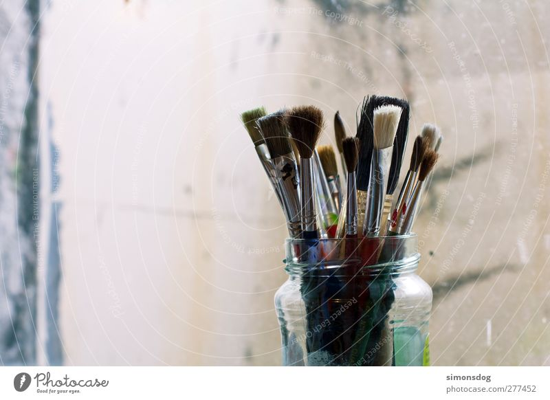 Colour Joy Art Painting (action, artwork) Painting (action, work) Painting and drawing (object) Artist Paintbrush Painter Containers and vessels Second-hand Keep Bristles