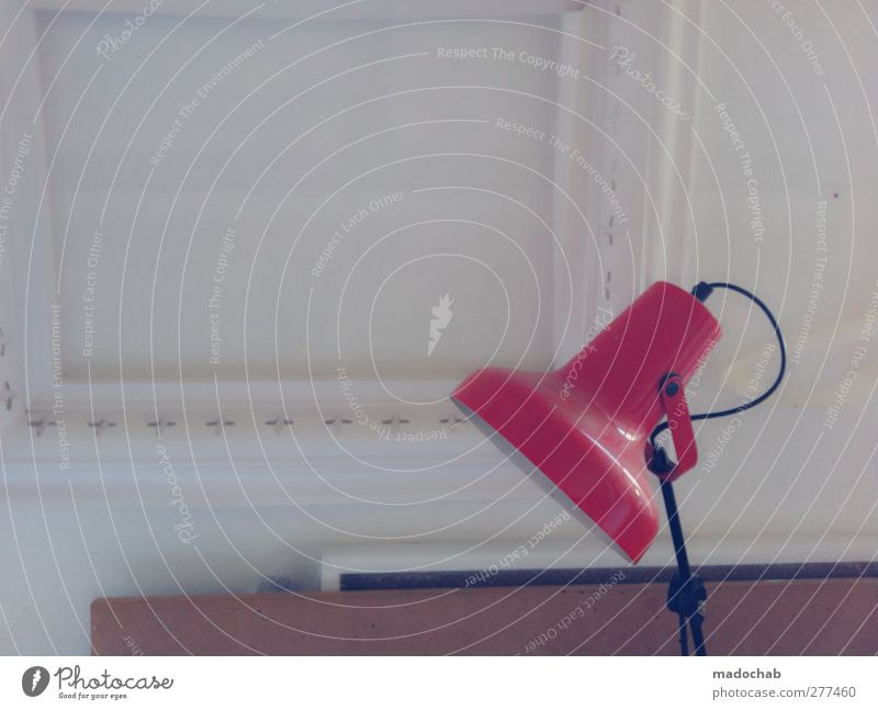 Red Calm Interior design Lamp Living or residing Gloomy Simple Serene Trashy Boredom Patient