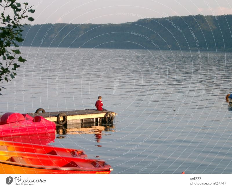Human being Water Ocean Lake Watercraft Longing Lake Constance