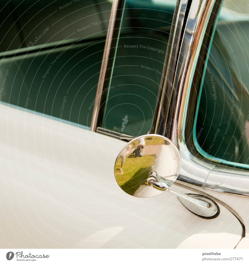 Old White Meadow Grass Car Car Window Design Trip Retro Mirror Past Athletic Vehicle Motoring Vintage car Means of transport