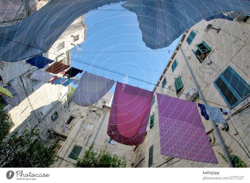 City Heaven House (Residential Structure) Window Wall (building) Wall (barrier) Pink Fresh Clothing Old town Stockings Dry Household Laundry Croatia