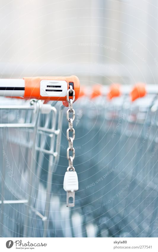 shopping spree Shopping Trolley Deposit Wire basket Supermarket Store premises Metal Metalware Plastic Consumption deal weigh Shopping basket Shopping center