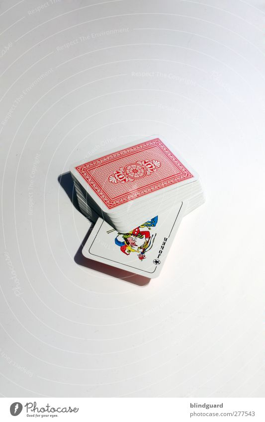 The Joker (700) Playing Game of cards White Stack Colour photo Interior shot Deserted Bright background Isolated Image Studio shot Object photography