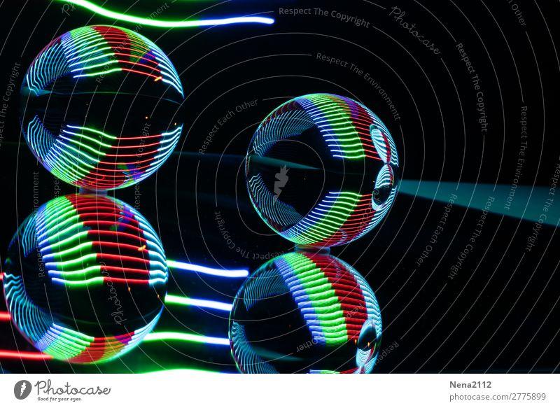 Art Round Sphere LED Light painting Glass ball