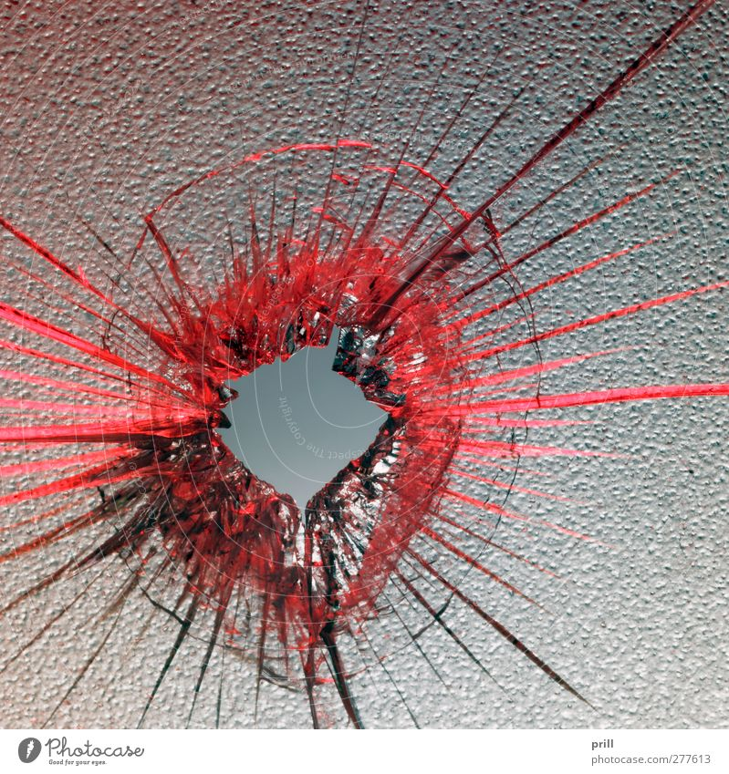 red shot Design Jump Red Idea Arrangement Destruction bullet hole Broken Glass semitransparent see through something Background picture Concentric forensics