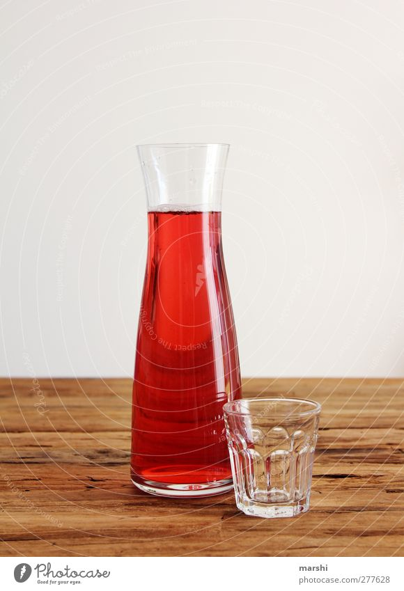 Red Glass Fruit Food Beverage Drinking Thirst Juice Cold drink Thirst-quencher Wooden table Fruity Lemonade Redcurrant Spritzer Decanter