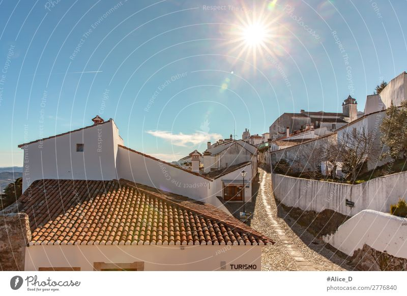 Medieval village Marvao in Alentejo Portugal Vacation & Travel Europe Village Small Town Old town House (Residential Structure) Architecture Wall (barrier)