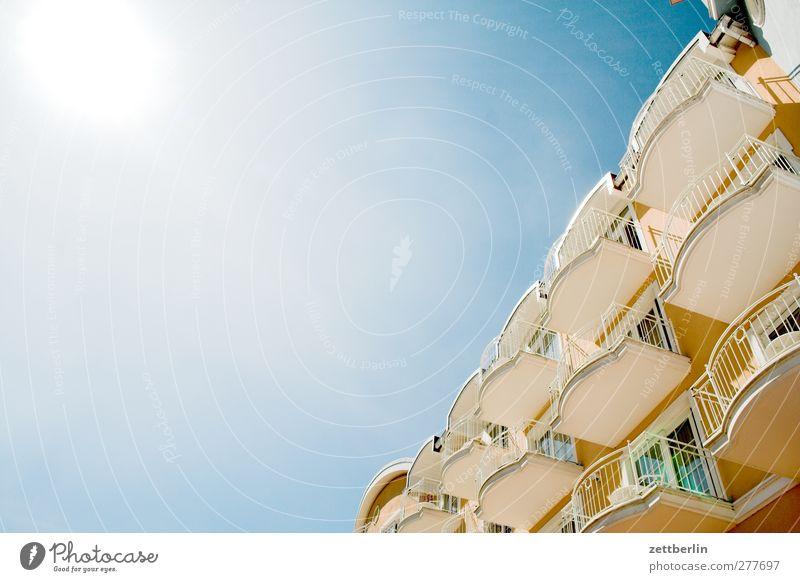Even more balcony Environment Nature Sky Cloudless sky Sun Summer Climate Climate change Weather Beautiful weather Fishing village Small Town