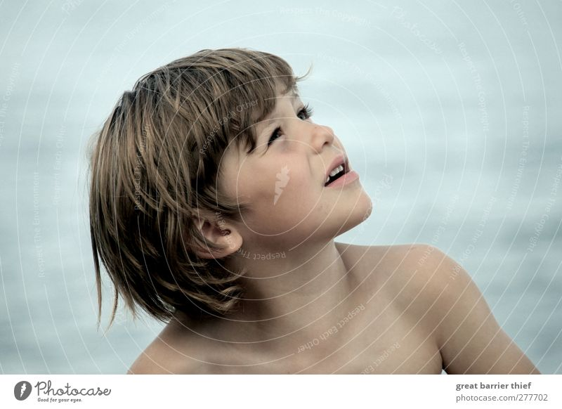 Sea boy Human being Masculine Child Toddler Infancy Life Skin Head Hair and hairstyles Face 1 3 - 8 years Summer Baltic Sea Ocean Swimming & Bathing Discover