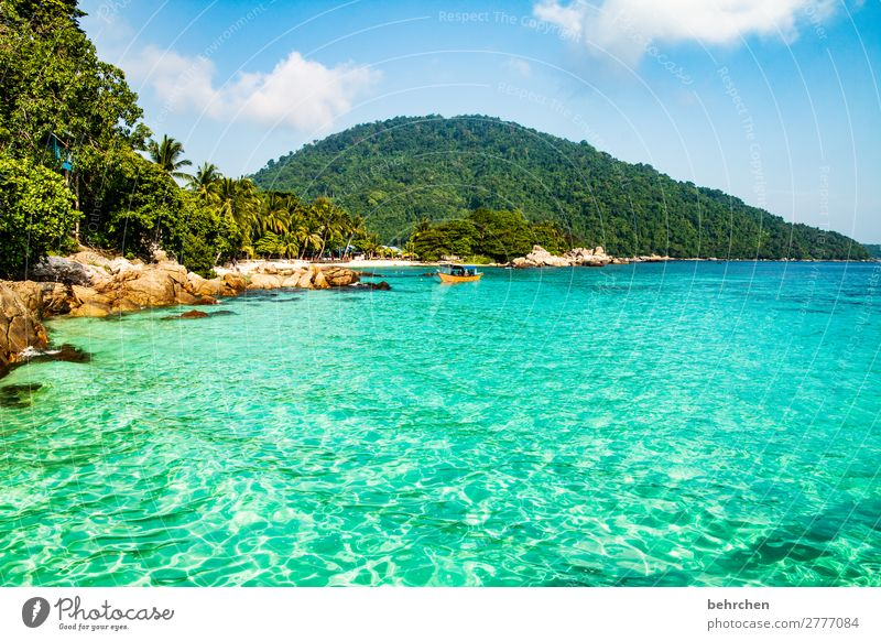 Sky Vacation & Travel Nature Beautiful Ocean Far-off places Beach Mountain Coast Tourism Exceptional Freedom Rock Watercraft Trip Dream