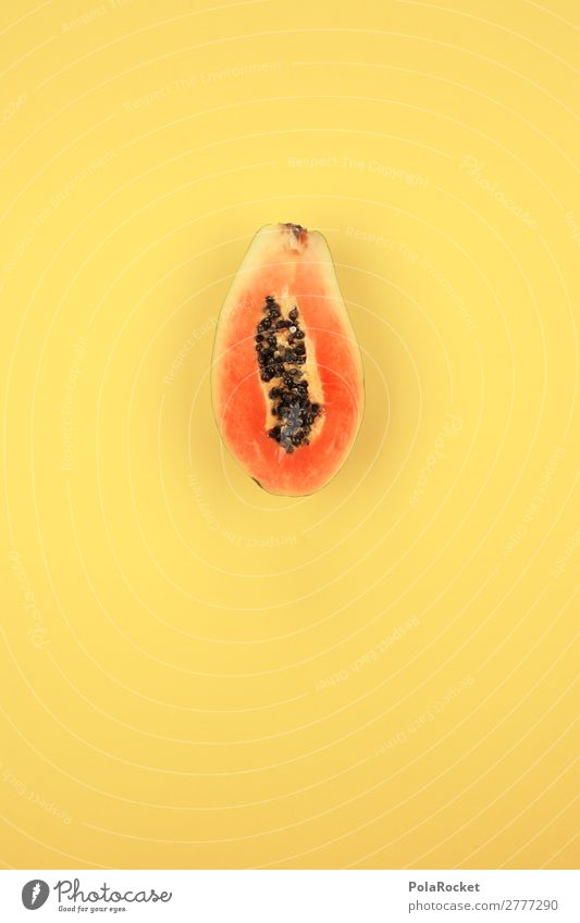 #A# PapaJA! Art Work of art Esthetic Papaya Fruit Fruity Fertile Flower fruit Fruit ice cream Vitamin Vitamin-rich Delicious Healthy Eating Tropical fruits