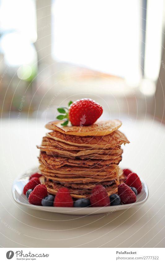 #A# Good Morning! Art Esthetic Pancake Rocks Delicious Unhealthy Calorie Rich in calories Strawberry Blueberry Raspberry Breakfast Breakfast table Morning break