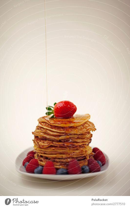 #A# yummy yummy Food Nutrition Esthetic Dessert Desert plate Pancake Rocks Strawberry Raspberry Blueberry Breakfast Breakfast table Morning break maple syrup