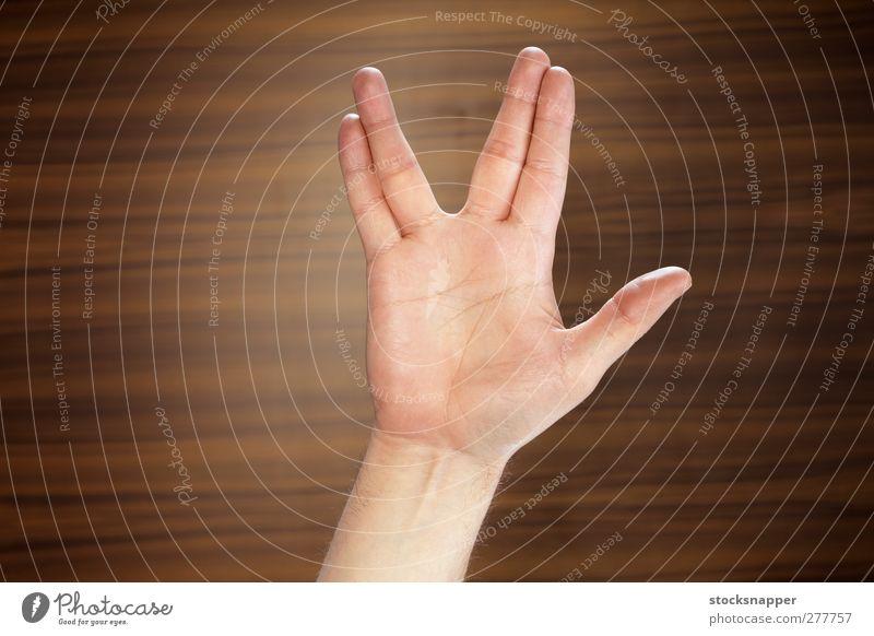Geek Salute Hand Fingers Freak Gesture Gap Salutation Geek Salute Star Trek