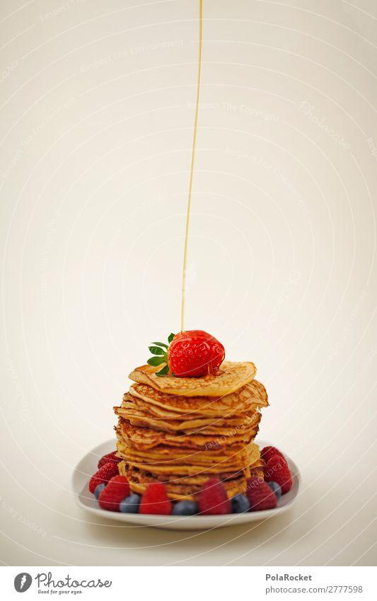 #A# Morning greeting Art Esthetic Pancake Rocks Delicious Breakfast Breakfast table Morning break Dessert Desert plate maple syrup Colour photo Multicoloured