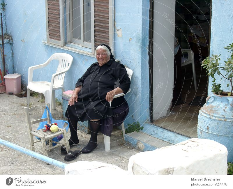 old lady Woman Loneliness Widow Grief Greece Black Senior citizen Grandmother Sadness Wrinkles